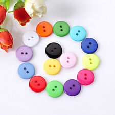 100pcs/Lot DIY 2 Holes Round Resin Plastic Sewing Button Scrapbooking Craft 10mm