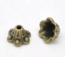 Lot 10 Coupelles / caps / Calottes 10mm Bronze perles breloques 10 mm Bronze