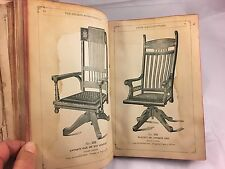 Antique 1892 Victorian Pressed Back Chair Furniture Sales Catalog Dayton OH