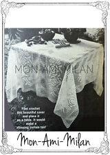 Vintage 70s patrón de ganchillo bastante filete de encaje de ganchillo Mantel O Cortina Pdf