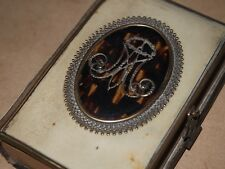 ANTIQUE ITALIAN PRAYER BOOK CELLULOID ORNATE METAL BROOCH MANUAL OF PIETY 1885