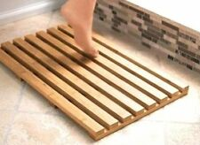 Strong Bamboo Wood Slatted Duck Board Rectangular Bathroom Bath Shower Mat