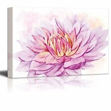 Shades of Purple and Pink Watercolor Flower - Canvas Art - 16x24 inches