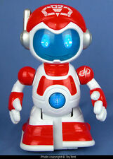 Talking robot with lighted head & button charming actions