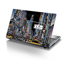 "TaylorHe 15.6"" Laptop Vinyl Skin Sticker Decal NYC Times Square Colorful 2157"