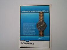 advertising Pubblicità 1985 LONGINES CONQUEST VHP