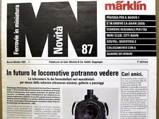 Catalogo Marklin novità News 1987 - Italiano   [G99A]
