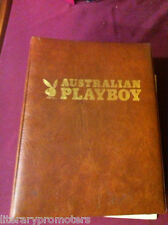 AUSTRALIAN PLAYBOY SET 1979 March onward FOLDER BINDER x 12 Marilyn 3D