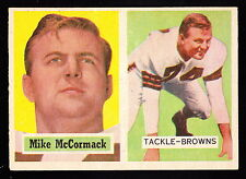 1957 TOPPS #3 MIKE McCORMACK BROWNS HALL OF FAMER