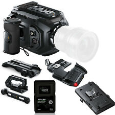 Blackmagic URSA Mini 4K EF w/ V-Mount Plate, Shoulder Kit, Viewfinder, & Battery