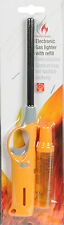 Electronic Yellow Gas Lighter & Refill Cookers Ovens Stoves BBQ Barbecues Nozzle