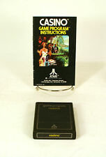 Atari 2600 game Casino  With Instructions Tested and Working