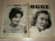 OGGI=1959/24=PAOLA RUFFO=WALTER FACCINI=LYDA BORELLI=GROTTA AZZURRA CAPRI=