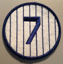 MICKEY MANTLE NEW YORK YANKEES RETIRED 1951 JERSEY NUMBER 7 PATCH
