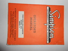 SIMPSON OPERATORS MANUAL FROM 1963 (VOLT-OHM-MILLIAMMETER SERIES 2 )RARE N COOL
