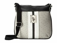 NEW! US POLO ASSN. USPA MONTY BLACK CROSSBODY MESSENGER SLING BAG PURSE SALE $49