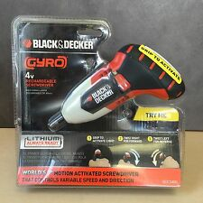 NEW, Black & Decker Gyro BDCS40G Rechargeable Screwdrivers 4V