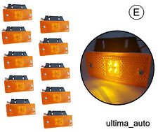 10 12V 24v LED amber orange side marker lights indicator trailer truck lorry bus