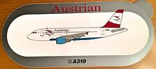 AUSTRIAN, Airbus A319, Original, High Quality Print, new, HIGHLY RARE !!!