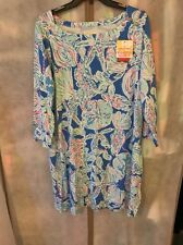 Lilly Pulitzer NWT  Sophie Dress Bay Blue Into The Deep XL