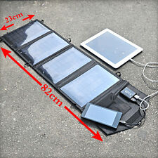 14W Foldable Solar Power Charging Bag 2 USB Output Portable Charger Pack Kit