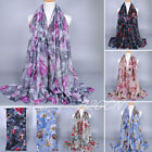 Fashion Women Scarf Winter Warm Voile Flower Shawl Wrap Long Neck Scarves Wraps