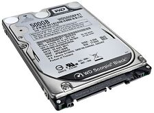 "WD 500 Gb SATA 7200 RPM NERO WESTERN DIGITAL 2,5 ""Notebook Laptop Hard Drive"