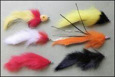 6 Mixte mouches pêche brochet-Tailles 2/0 mixtes et 1/0-gratuit uk post