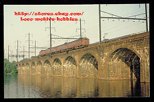 LMH Postcard PENNSYLVANIA MP54 Multiple Unit PRR MU Electric Delaware River 1967