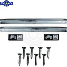 78-88 fits GM A/G Rocker Door Jamb Scuff Plate Door Sill Trim w/ hardware L=R Pr