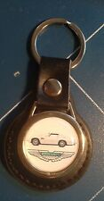 ASTON MARTIN REAL LEATHER KEY RING WITH DB5, FREE ASTON LOGOS STICKER