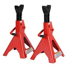 New 3 Ton Heavy Duty Jack Stands Ratcheting Set Pair Height Adjustable Car Truck