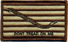 Don't Tread on Me Flag Desert Patch w Hook Fastener Backing Free Ship to the US!