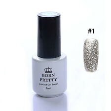 5ml BORN PRETTY Platin Nagellack Glitter Lack UV Gel Soak off Nail Polish #1