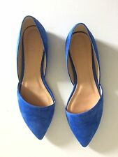 J.Crew Sloan d'Orsay Flats Bright Grotto Blue size 8