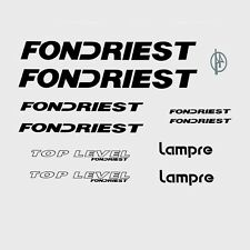 Fondriest Top Level Bicycle Decals, Transfers, Stickers - Black n.210