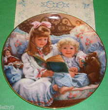 NIGHT-TIME STORY Sandra Kuck BAREFOOT CHILDREN Doll Collector Plate New COA