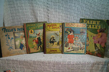 lot 5 old antique childrens books Mother Goose Fairy tales nursery rhymes