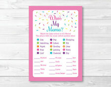 Pink Baby Sprinkle Baby Shower Baby Animal Match Game Printable