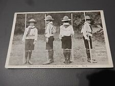 """BOY SCOUTS early Postcard Work and Play no 2 Official Postcard """" The Scout """""""