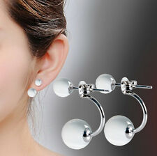 925 silver natural Moonstone opal earrings