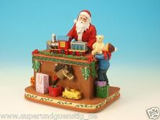 "Game clock Collector's item Santa Claus with Train ""Santa am Gift table"" 51080"