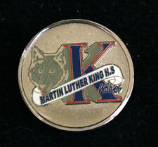 US NAVY MARTIN LUTHER KING H.S WOLVES CHALLENGE COIN JROTC WOLVERINES MLK SCHOOL