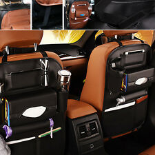 Car Seat Back Bag Organizer Storage iPad Phone Holder Multi-Pocket Leather CA