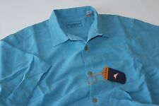 Tommy Bahama Camp Shirt 100% Silk Rio Fronds Azul Blue New T312931 Large L