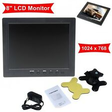 "HD 8"" TFT LCD Screen Monitor 1204*768 VGA BNC Video Audio For PC,CCTV Camera,VCD"