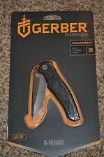 NEW! Gerber Essentials Counterpart Clip Folding Knife, G-10 Handle