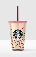 2017 Starbucks  Valentines Day Tiny Hearts Cold Cup 16 oz