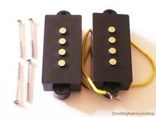 Electric Bass Guitar Precision Pickup Set Par Pb O Jazz Pastillas Nuevo + Tornillos