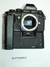 GENUINE ORIGINAL NIKON BRAND BLACK F3 CAMERA with ORIGINAL NIKON MD4 MOTOR DRIVE